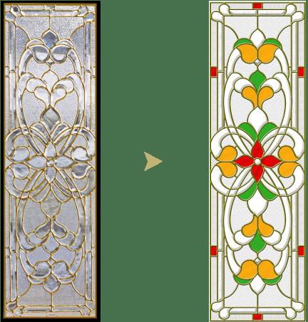 セミオーダーステンドグラス_色変更1
